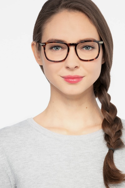 Glory Tortoise Acetate Eyeglass Frames for Women from EyeBuyDirect, Front View