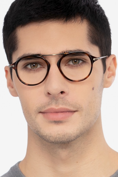 Terminal One Tortoise Bronze Acetate Eyeglass Frames for Men from EyeBuyDirect