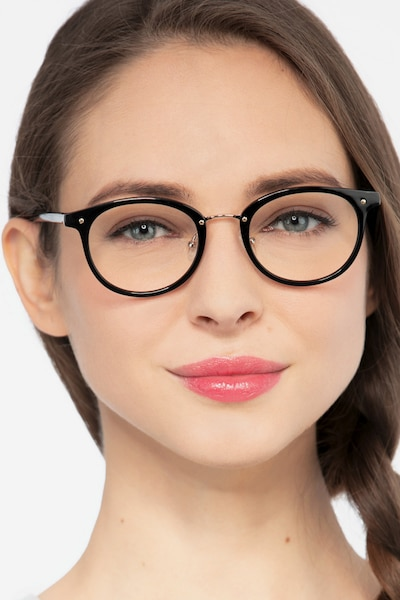 Fetching Black Golden Acetate Eyeglass Frames for Women from EyeBuyDirect