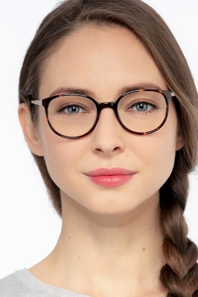 Lucy Tortoise Acetate Eyeglass Frames for Women from EyeBuyDirect