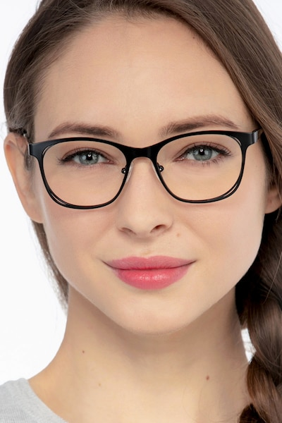 Nightfall Black Acetate Eyeglass Frames for Women from EyeBuyDirect