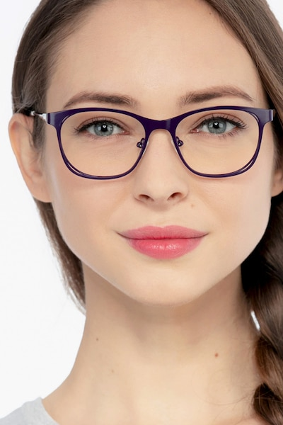 Nightfall Purple Acetate Eyeglass Frames for Women from EyeBuyDirect