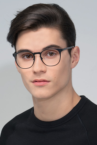 Resonance Black Acetate Eyeglass Frames for Men from EyeBuyDirect