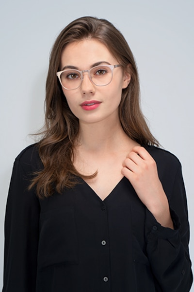 Resonance Rose Gold Acetate Eyeglass Frames for Women from EyeBuyDirect, Front View