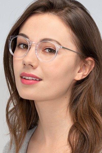 Luminous Clear Acetate Eyeglass Frames for Women from EyeBuyDirect