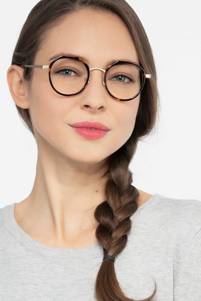 Accent Tortoise Acetate Eyeglass Frames for Women from EyeBuyDirect, Front View