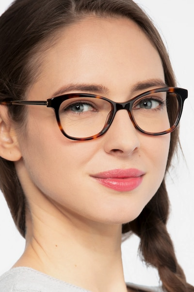 Ripple Tortoise Acetate Eyeglass Frames for Women from EyeBuyDirect, Front View
