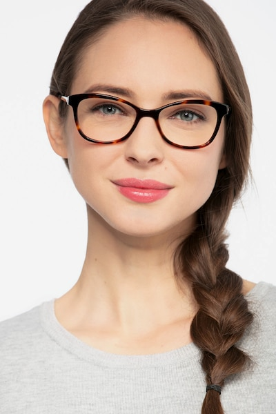 Ripple Tortoise Metal Eyeglass Frames for Women from EyeBuyDirect