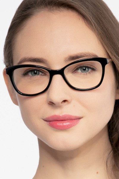 Ripple Black Acetate Eyeglass Frames for Women from EyeBuyDirect
