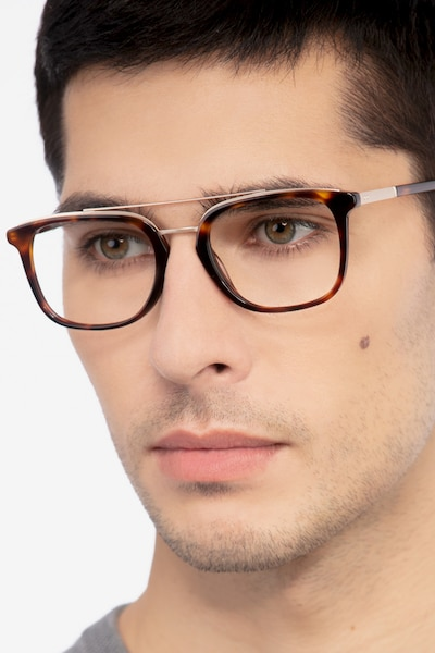 Guild Tortoise Metal Eyeglass Frames for Men from EyeBuyDirect