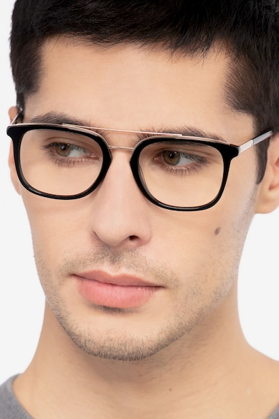 Guild Black Acetate Eyeglass Frames for Men from EyeBuyDirect