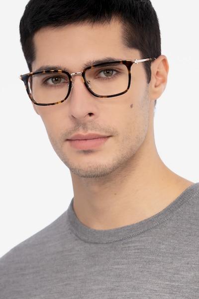 Wayback Tortoise Acetate Eyeglass Frames for Men from EyeBuyDirect