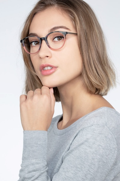 Martini Tortoise Acetate Eyeglass Frames for Women from EyeBuyDirect, Front View