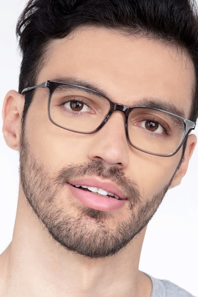 Stanza Gray Acetate Eyeglass Frames for Men from EyeBuyDirect
