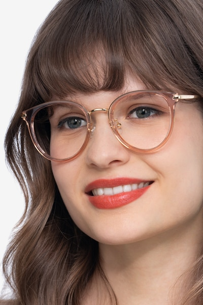 Hollie Pink Metal Eyeglass Frames for Women from EyeBuyDirect