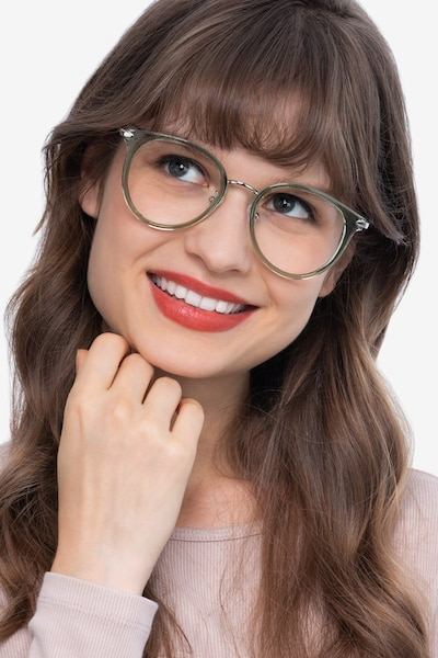 Hollie Green Metal Eyeglass Frames for Women from EyeBuyDirect, Front View