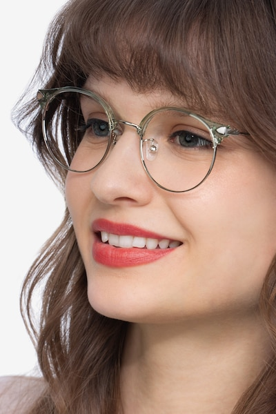 Moon River Clear Green Plastic-metal Eyeglass Frames for Women from EyeBuyDirect
