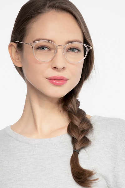 Dazzle Clear Metal Eyeglass Frames for Women from EyeBuyDirect, Front View