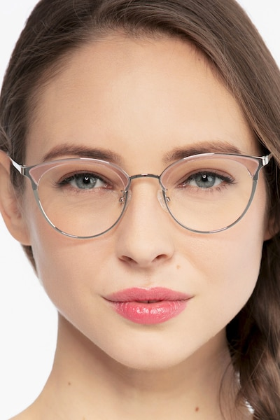 Bouquet Pink Silver Metal Eyeglass Frames for Women from EyeBuyDirect
