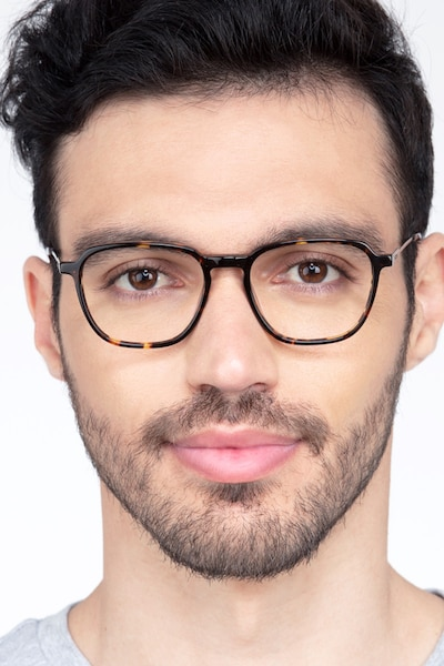 The Fan Tortoise Acetate Eyeglass Frames for Men from EyeBuyDirect