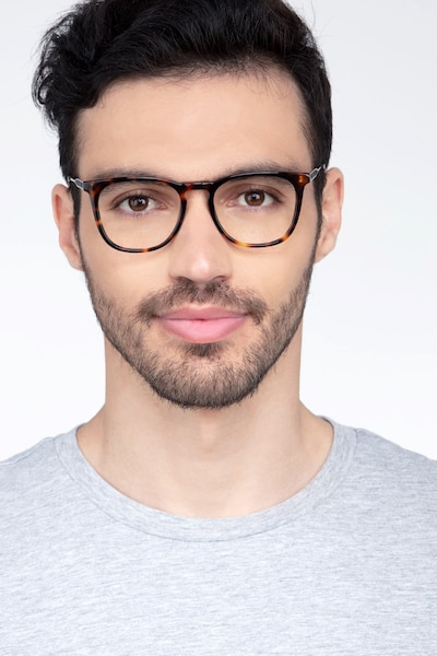 Vinyl Tortoise Acetate-metal Eyeglass Frames for Men from EyeBuyDirect, Front View