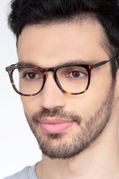 Vinyl Tortoise Acetate-metal Eyeglass Frames for Men from EyeBuyDirect