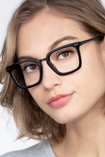 Poise Black Metal Eyeglass Frames for Women from EyeBuyDirect