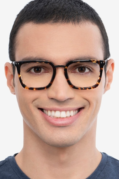 Poise Tortoise Acetate-metal Eyeglass Frames for Men from EyeBuyDirect
