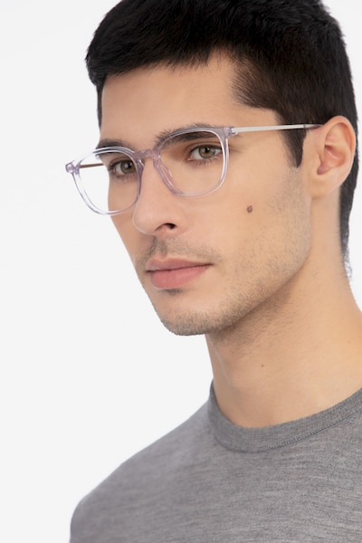 Esquire Clear Metal Eyeglass Frames for Men from EyeBuyDirect, Front View