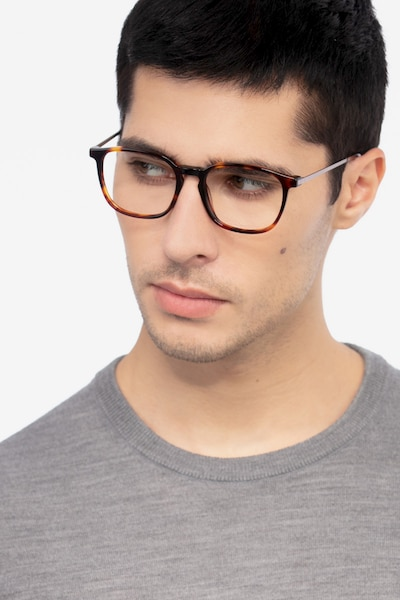 Esquire Tortoise Metal Eyeglass Frames for Men from EyeBuyDirect
