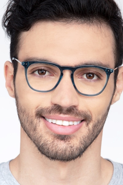 Distance Green Acetate-metal Eyeglass Frames for Men from EyeBuyDirect