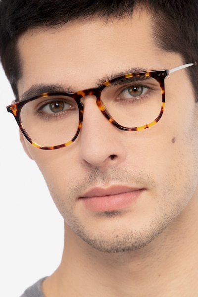 Distance Tortoise Metal Eyeglass Frames for Men from EyeBuyDirect
