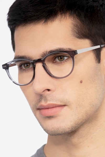 Traveller Gray Acetate Eyeglass Frames for Men from EyeBuyDirect