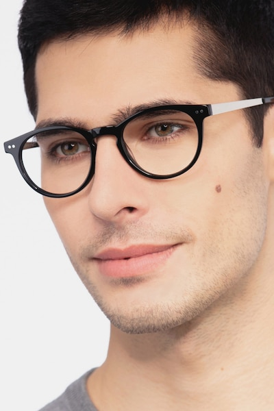 Traveller Black Acetate Eyeglass Frames for Men from EyeBuyDirect