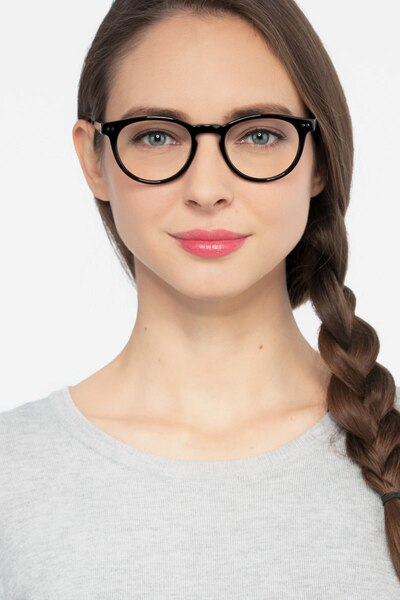 Traveller Black Acetate Eyeglass Frames for Women from EyeBuyDirect