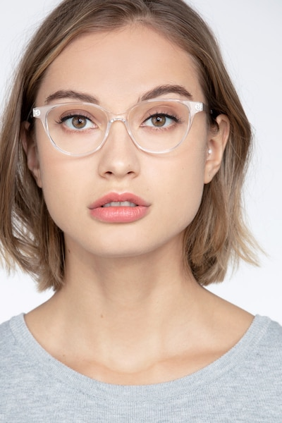 Element Clear Metal Eyeglass Frames for Women from EyeBuyDirect, Front View