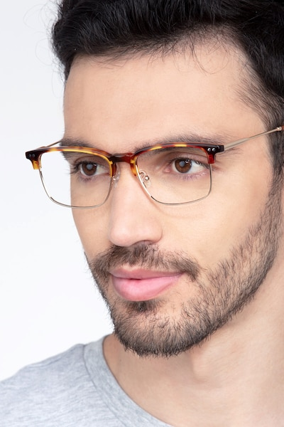 Explorer Tortoise Metal Eyeglass Frames for Men from EyeBuyDirect