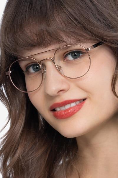 Lock Rose Gold Metal Eyeglass Frames for Women from EyeBuyDirect