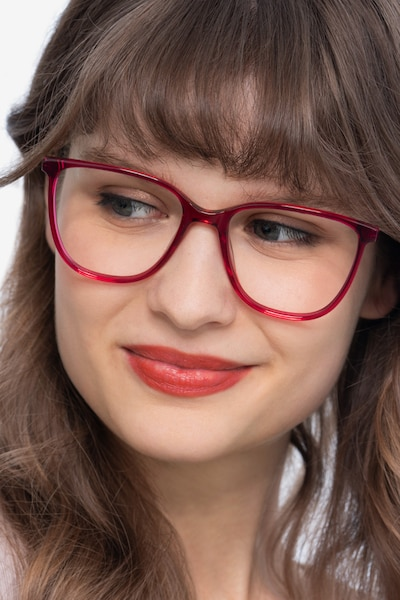 Aroma Raspberry Metal Eyeglass Frames for Women from EyeBuyDirect
