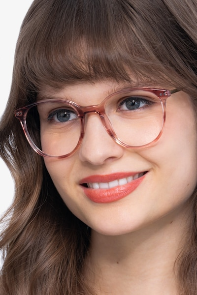 Oriana Pink Metal Eyeglass Frames for Women from EyeBuyDirect