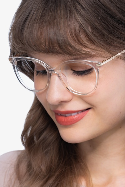Attitude Clear Acetate-metal Eyeglass Frames for Women from EyeBuyDirect