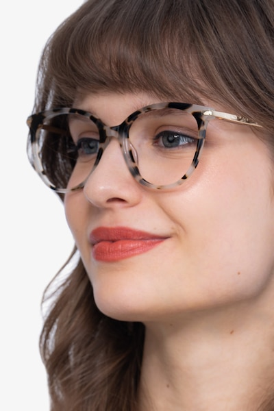 Attitude Ivory Tortoise Metal Eyeglass Frames for Women from EyeBuyDirect