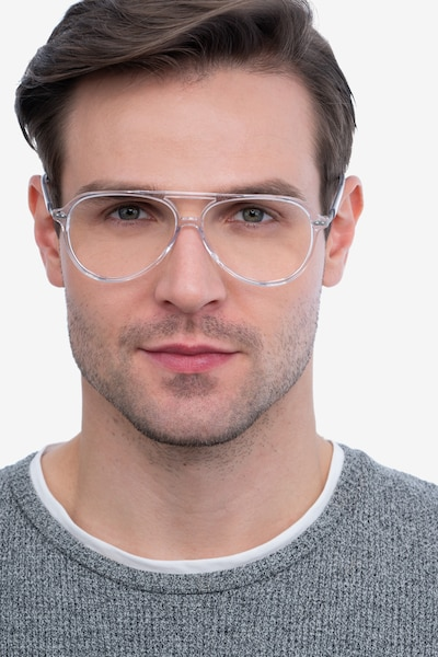 Viento Clear Acetate Eyeglass Frames for Men from EyeBuyDirect, Front View