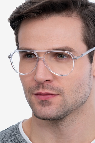 Viento Clear Acetate Eyeglass Frames for Men from EyeBuyDirect