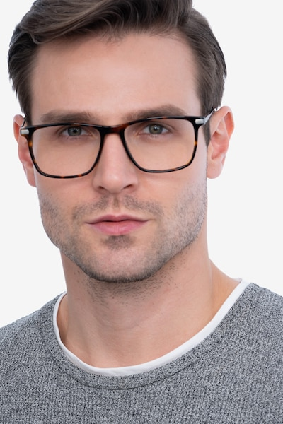 Envision Tortoise Metal Eyeglass Frames for Men from EyeBuyDirect, Front View