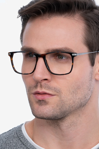 Envision Tortoise Metal Eyeglass Frames for Men from EyeBuyDirect