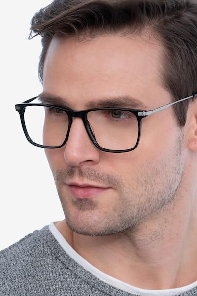 Envision Black Metal Eyeglass Frames for Men from EyeBuyDirect
