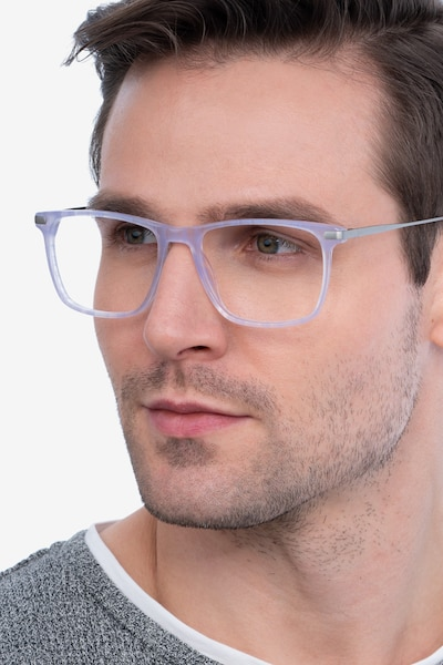 Envision Purple Acetate Eyeglass Frames for Men from EyeBuyDirect