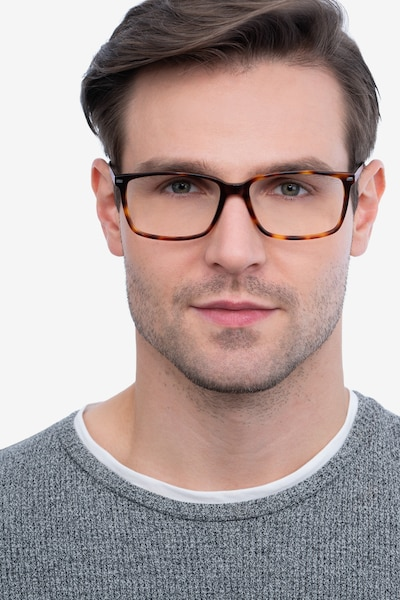 Hayday Tortoise Metal Eyeglass Frames for Men from EyeBuyDirect