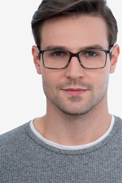 Haptic Gray Acetate Eyeglass Frames for Men from EyeBuyDirect, Front View
